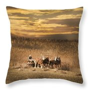 Team Of Four Horses Throw Pillow