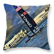 Team Oracle On The Bay Throw Pillow