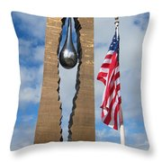 Teardrop Memorial Throw Pillow