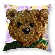 Ted E. Bear Throw Pillow