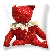 Teddy Bear Of Love Throw Pillow