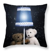 Teddy Bears Throw Pillow by Joana Kruse