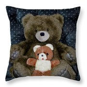 Teddy Elder Care Bear Throw Pillow