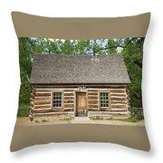 Teddy Roosevelt's Maltese Cross Log Cabin Throw Pillow