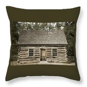 Teddy Roosevelt's Maltese Cross Log Cabin Retro Style Throw Pillow