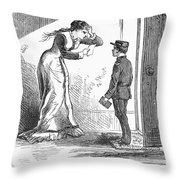 Telegram: Death, 1879 Throw Pillow