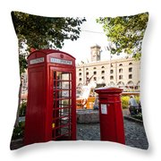 Telephone And Mail Box Throw Pillow