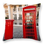 Telephone And Post Box Throw Pillow