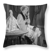 Telephone Call, 1920s Throw Pillow