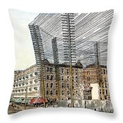 Telephone/telegraph Lines Throw Pillow