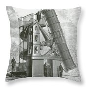 Telescope At The Paris Obervatory Throw Pillow