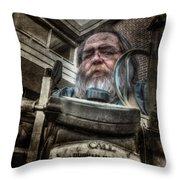 Telescope Salesman - Failed Throw Pillow