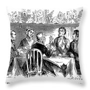 Temperance Movement, 1856 Throw Pillow