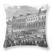 Temperance Rally, 1853 Throw Pillow