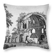 Tempio Di Minerva Medica In Roma, 18th Throw Pillow by Photo Researchers