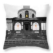 Temple At India Throw Pillow