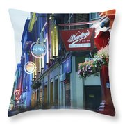 Temple Bar, Dublin, Co Dublin, Ireland Throw Pillow