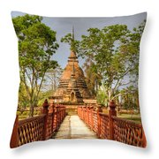 Temple Bridge Throw Pillow