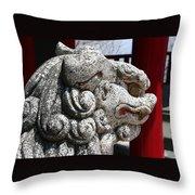 Temple Guard Throw Pillow