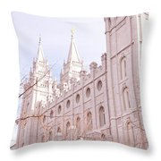 Temple Mormon In Temple Square Throw Pillow
