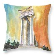 Temple Of Apollo In Kourion Throw Pillow