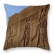 Temple Of Dendara Egypt Throw Pillow