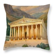 Temple Of Diana Throw Pillow