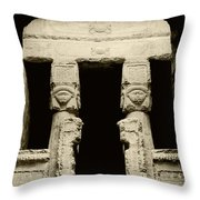Temple Of Hathor Throw Pillow