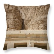 Temple Of Hatshepsut Throw Pillow