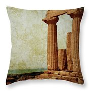 Temple Of Juno Throw Pillow