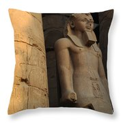 Temple Of Luxor  Egypt Throw Pillow