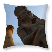Temple Of Luxor Ramses Ll Throw Pillow