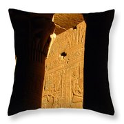 Temple Of Philea Egypt Throw Pillow