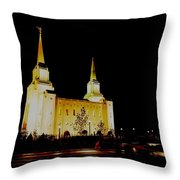 Temple Of The Later Day Saints Throw Pillow