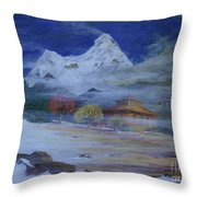 Temple Of The Snows Throw Pillow