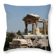 Temple Ruin - Ephesus Throw Pillow