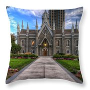 Temple Square Assembly Hall Throw Pillow