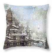 Temples Of The North Throw Pillow