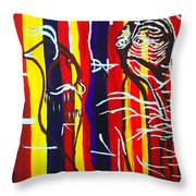 Temptation Of Jesus Throw Pillow