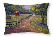 Ten Oaks Road Throw Pillow