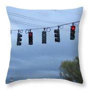 Ten Traffic Lights  Throw Pillow