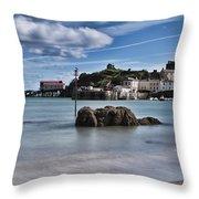 Tenby Harbour 1 Throw Pillow