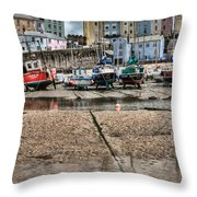 Tenby Harbour 2 Throw Pillow