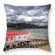 Tenby Lifeboat House Throw Pillow