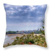 Tenby Pembrokeshire Painted Throw Pillow