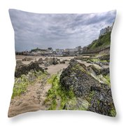 Tenby Rocks 2 Throw Pillow