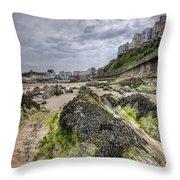 Tenby Rocks 3 Throw Pillow