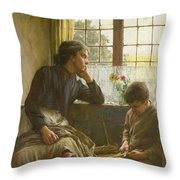 Tender Grace Of A Day That Is Dead Throw Pillow by Walter Langley