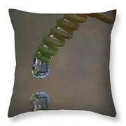 Tendril Droplet  Throw Pillow