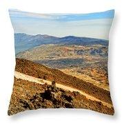Tenerife Volcanic Landscape Throw Pillow